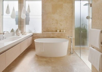 Bathroom-Tiles-floor-and-wall-in-Ivory-Travertine-honed-and-filled