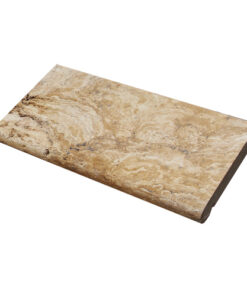 antique travertine unfilled and tumbled bullnose coping tile