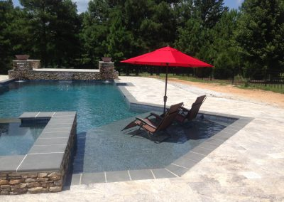 Antique travertine pool pavers