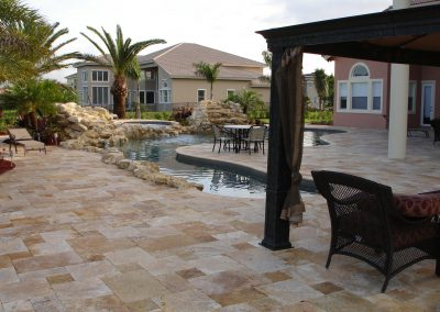 Antique travertine pool pavers 2