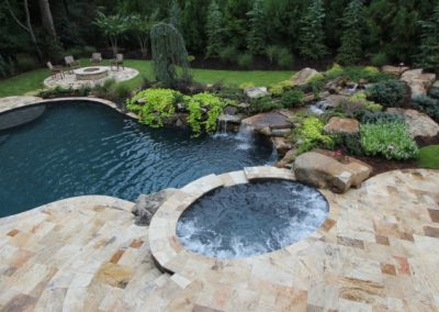 Antique travertine pool tiles