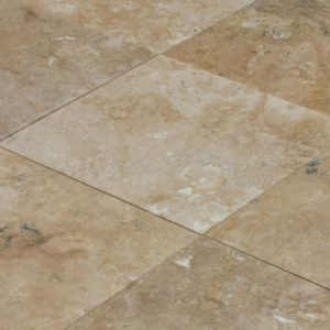 antique travertine filled and honed pavers tiles