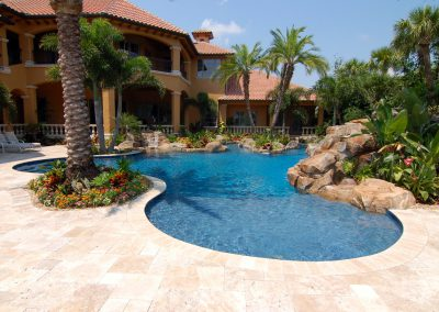 Classic travertine non slip pool pavers and coping tiles