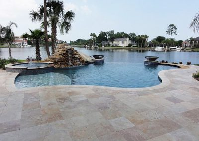 Classic travertine pool paving tiles