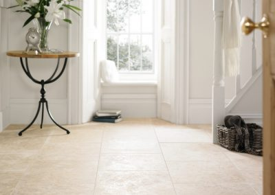 ivory travertine filled and honed indoors pavers