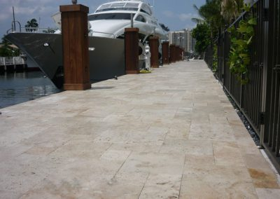 ivory travertine unfilled and tumbled french pattern tiles pavers