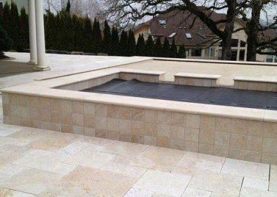 ivory travertine outdoor tiles