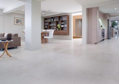 Shelly White Travertrine Floor Tiles