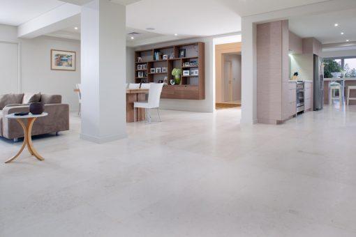 shell white filled and honed limestone travertine tiles