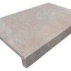 Ivory unfilled and tumbled travertine rebate drop face pool coping tiles pool coping