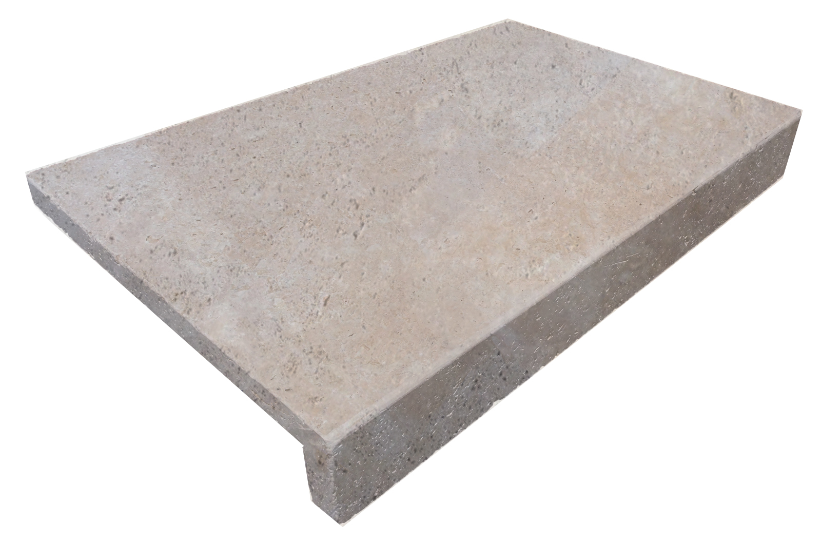 Classic Travertine Drop Face Pool Coping We Deliver