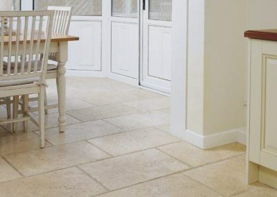 ivory travertine grout tumbled kitchen tiles