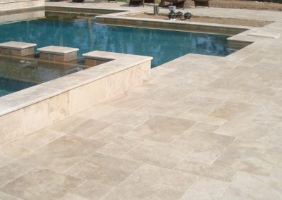 Ivory french pattern non slip pool tiles 2