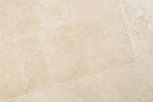 ivory travertine filled and honed pavers