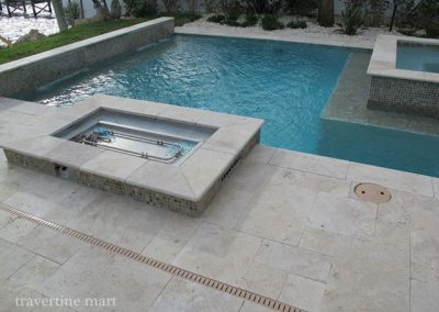 Ivory travertine pool coping tiles 2