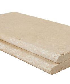 ivory travertine bullnose unfilled and tumbled coping tiles