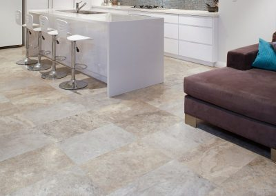 Kitchen Floor Tiles Ivory Travertine honed and filled