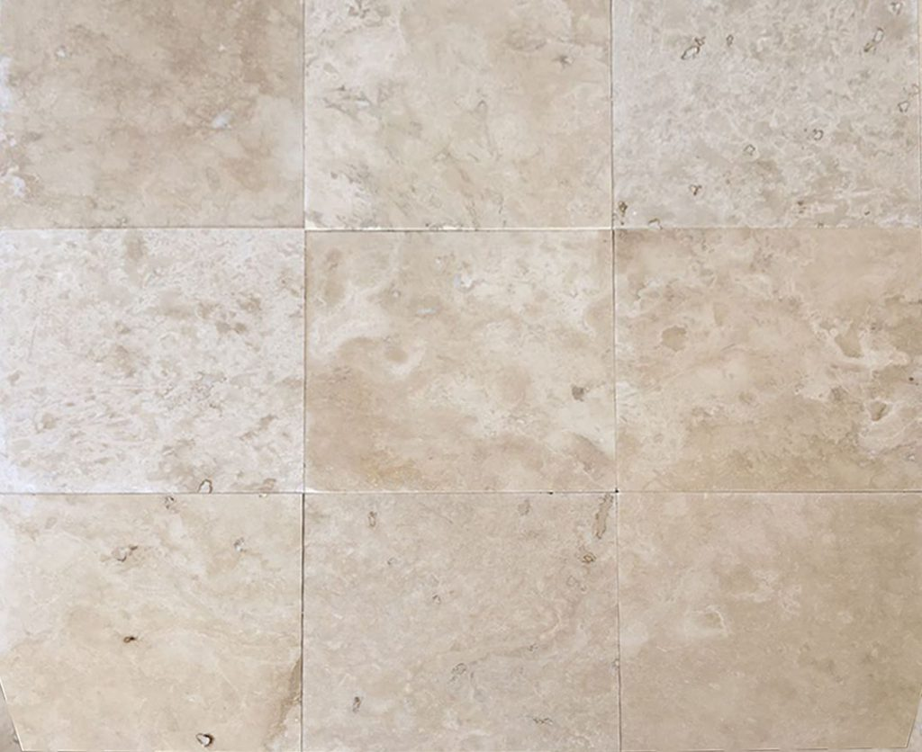 ivory travertine filled and honed tiles