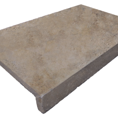 antique unfilled and tumbled Pool Coping rebate drop face