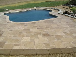 noce travertine unfilled and tumbled outdoor area pool pavers and coping