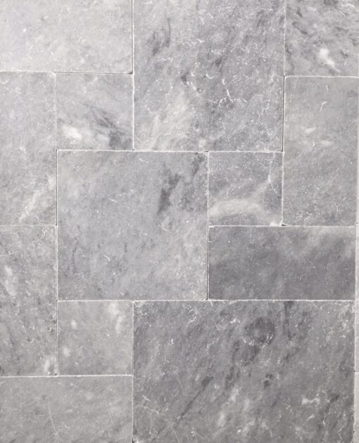 pearl grey limestone french pattern tiles