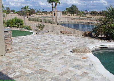outdoor silver travertine non slip tiles