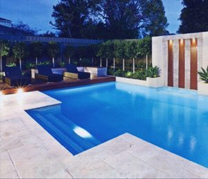 SHELLY WHITE TRAVERTINE BULLNOSE POOL COPING TILE WE DELIVER - Bullnose tiles for pools