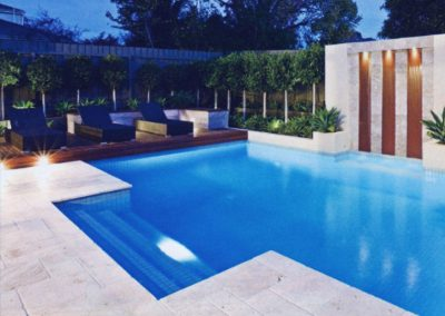 shell white unfilled and tumbled limestone travertine pool pavers and coping tiles french pattern