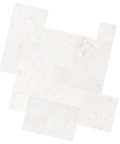 shell White Limestone Tiles french pattern