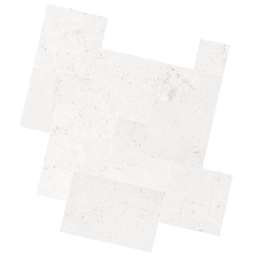 shell White Limestone Tiles french pattern
