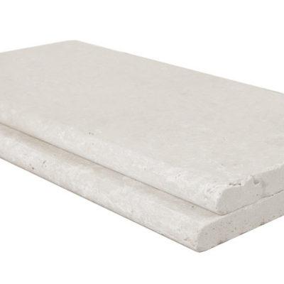 shell white limestone bullnose pool coping tiles
