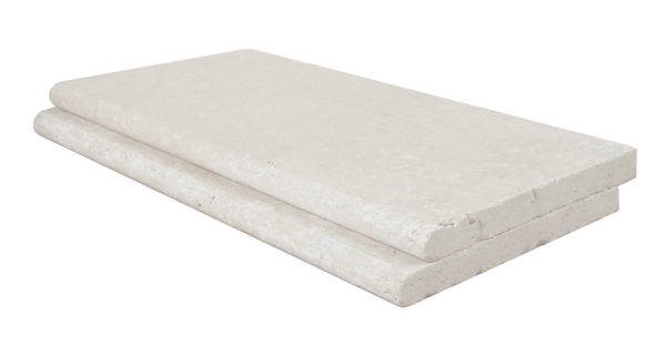 shell white limestone bullnose pool coping tiles