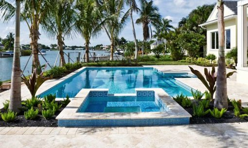 shell white limestone travertine unfilled and tumbled outdoor area pool pavers and coping