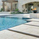white pool tiles