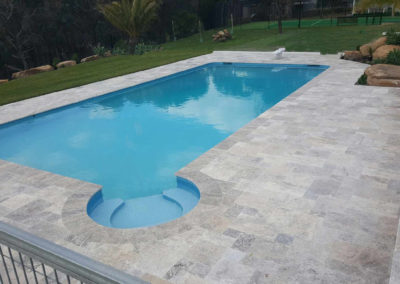 Silver Traverine Pool Pavers and Coping Tiles