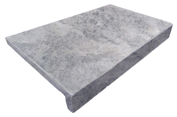 Pearl Grey Limestone drop face pool coping Tiles