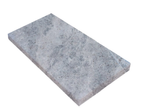 Pearl Grey Limestone tumbled edge pool coping tiles