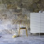 silver travertine filled and honed wall tiles