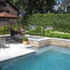 capri white limestone travertine unfilled and tumbled outdoor area pool pavers and coping
