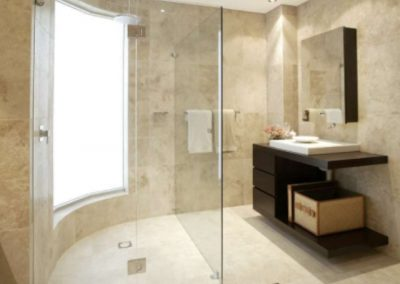 ivory filled and honed bathroom tiles and wall tiles