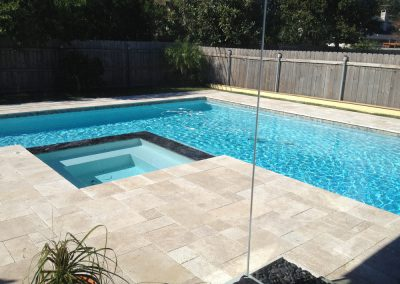 ivory travertine french pattern unfilled and tumbled pool pavers and coping tiles