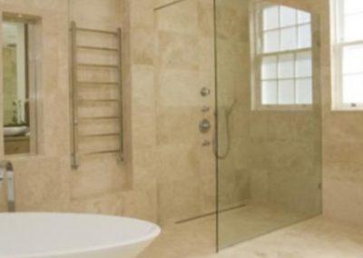 Travertine bathroom wall n floor tiles ivory