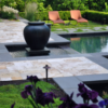 antique unfilled and tumbled travertine pavers for pool area
