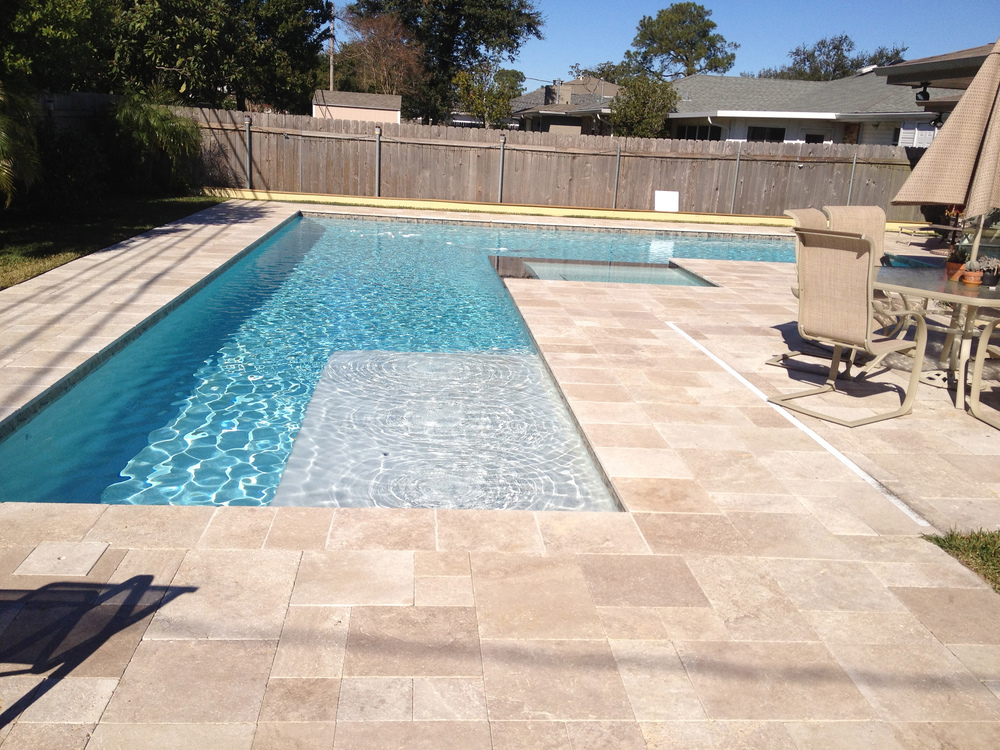 NOCE TRAVERTINE FRENCH PATTERN TILES amp PAVERS WE DELIVER