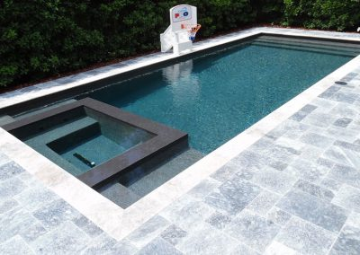 Grey Pearl Travertine Pool Tiles