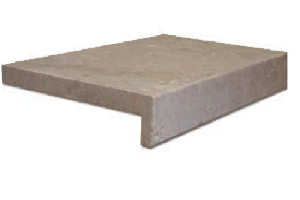 ivory travertine unfilled and tumbled rebate drop face pool coping