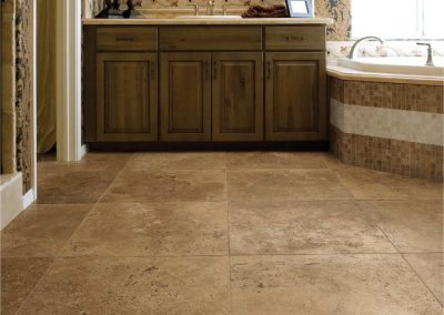 Walnut travertine tiles honed and filled
