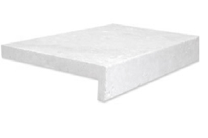 shell white limestone rebate drop face pool coping tiles