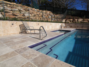 noce travertine unfilled and tumbled coping tiles and pavers