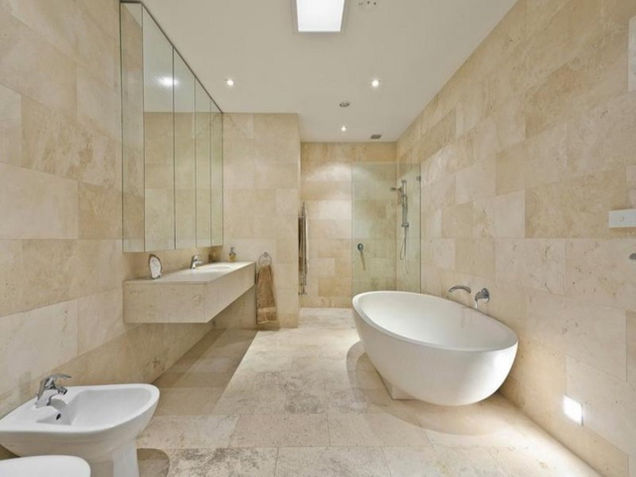 Antique travertine honed filled wall and floor tiles for Bathroom travertine tile designs